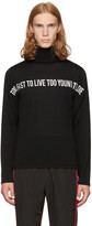 Christian Dada Black tftltytd Turtleneck