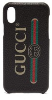 Gucci - Vintage Logo Leather Iphone X Case - Mens - Black