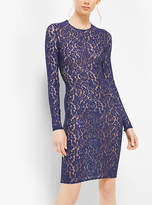Michael Kors Stretch Floral Lace Dress