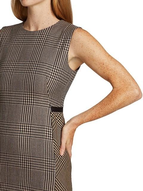 Thumbnail for your product : Akris Prince De Galles Check Virgin Wool Sheath Dress