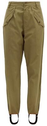 Myar - Stirrup-ankle Cotton-gabardine Trousers - Womens - Green