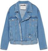 Moschino Denim Biker Jacket - Blue