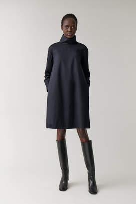 Cos HIGH NECK COTTON SHIRT DRESS