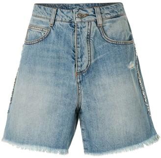 Ermanno Scervino Frayed Denim Shorts