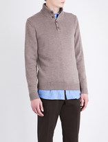 SLOWEAR Band-collar knitted wool jumper