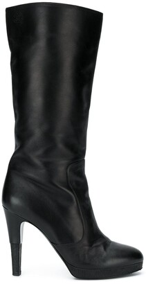 Chanel Pre Owned Mid-Calf Boots