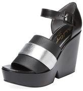 Robert Clergerie Dobert Leather Wedge Sandal