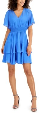 Thumbnail for your product : Taylor Petite Blouson Tiered-Hem Dress