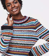 LOFT Rainbow Stitch Sweater