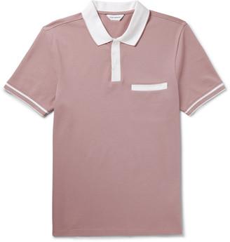 Club Monaco Contrast-Tipped Cotton-Blend Pique Polo Shirt