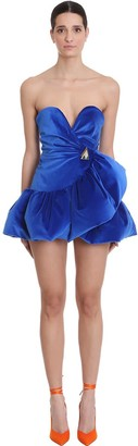ATTICO Dress In Blue Silk