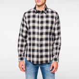 Paul Smith Men's Grey 'Shadow Plaid' Cotton Shirt
