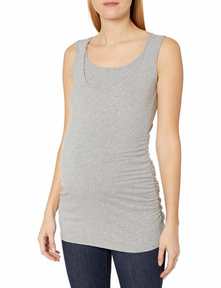 Maternal America Women's Maternity Belly Ruched Nursing Tank Top
