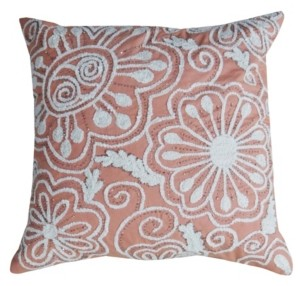 "Chico's Chicos Home Nature Inspired Embroidered Throw Pillow Cover 20"" x 20"""