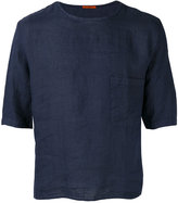 Barena half sleeve pocket T-shirt - men - Linen/Flax - 46