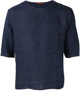 Barena half sleeve pocket T-shirt - men - Linen/Flax - 48