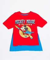 Freeze Red & Blue Mickey Mouse Costume-Cape Tee - Toddler & Boys