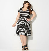 Avenue Striped Skater Dress