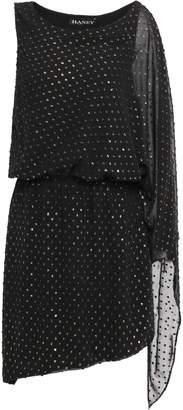 HANEY Asymmetric Metallic Fil Coupe Woven Mini Dress