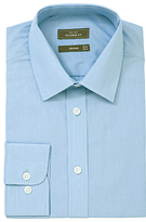 John Lewis Fine Stripe Long Sleeve Tailored Fit Shirt, Blue