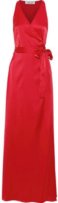 Diane von Furstenberg Satin Wrap Gown
