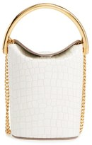 Stella McCartney 'Small Ring' Faux Leather Bucket Bag - Ivory