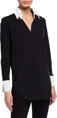 Chiara Boni Atena Long-Sleeve Collared Shirt