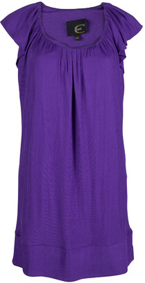 Just Cavalli Purple Knit Ruffle Sleeve Detail Dress L