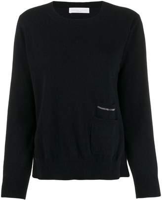 Fabiana Filippi knitted stud-embellished jumper