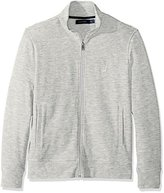 Nautica Men's Long Sleeve Zip Front French Rib Sweatshirt