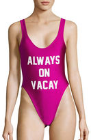 Private Party Always On Vacay One-Piece Swimsuit