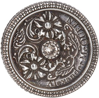 Alexander McQueen Motif Engraved Signet Ring