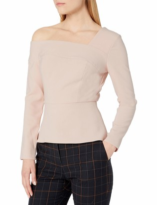 BCBGMAXAZRIA Women's Long Sleeve Peplum TOP