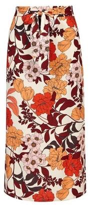 Dorothy Perkins Womens **Tall Multi Colour 'Fiona' Floral Print Midi Skirt, Multi