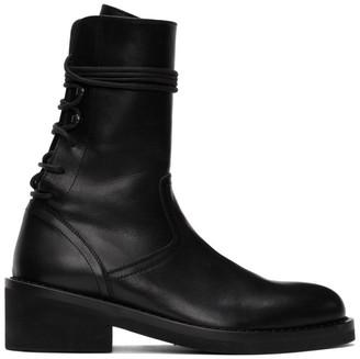 Ann Demeulemeester Black Back Lace Boots