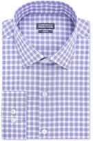 Kenneth Cole Reaction Slim-Fit Dry-Tek Performance Blue Violet Gingham Dress Shirt
