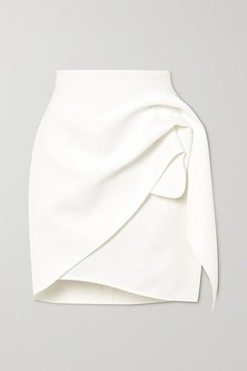 Maticevski Splendid Gathered Stretch-crepe Mini Skirt - White