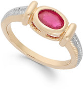 Townsend Victoria Ruby Cable Ring in 18k Gold over Sterling Silver (1 ct. t.w.)
