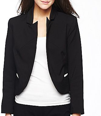 Nicole Miller nicole by Cropped Colorblock Blazer