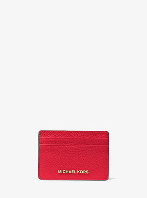 MICHAEL Michael Kors MK Pebbled Leather Card Case - Soft Pink - Michael Kors