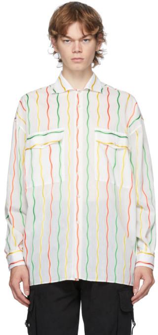 Moschino White Stripe Fantasy Shirt ShopStyle