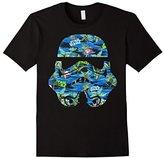 Star Wars Stormtrooper Hawaiian Print Helmet Graphic T-Shirt