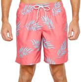 ST. JOHN'S BAY Island Coral Leaf Leaf Swim Shorts