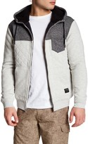 Quiksilver Quilted Faux Shearling Hooded Jacket