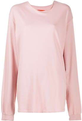 Raquel Allegra Oversized Long Sleeve Sweatshirt