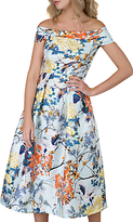 Closet Floral Off-Shoulder Dress, Multi