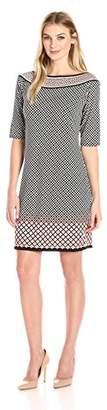 Lark & Ro Women's Half Sleeve Shift Dress