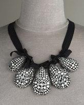 Padded Rhinestone Teardrop Necklace