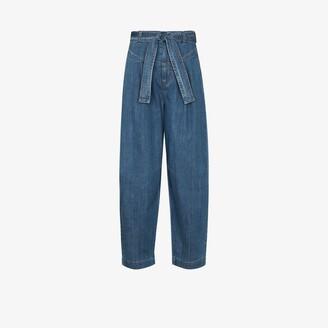 See by Chloe Tie-Waist Wide Leg Jeans