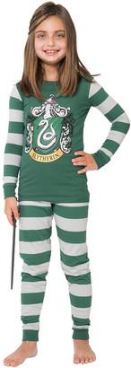 Intimo Sleep Bottoms P0056: - Harry Potter Green & White Slytherin Pajama Set - Kids